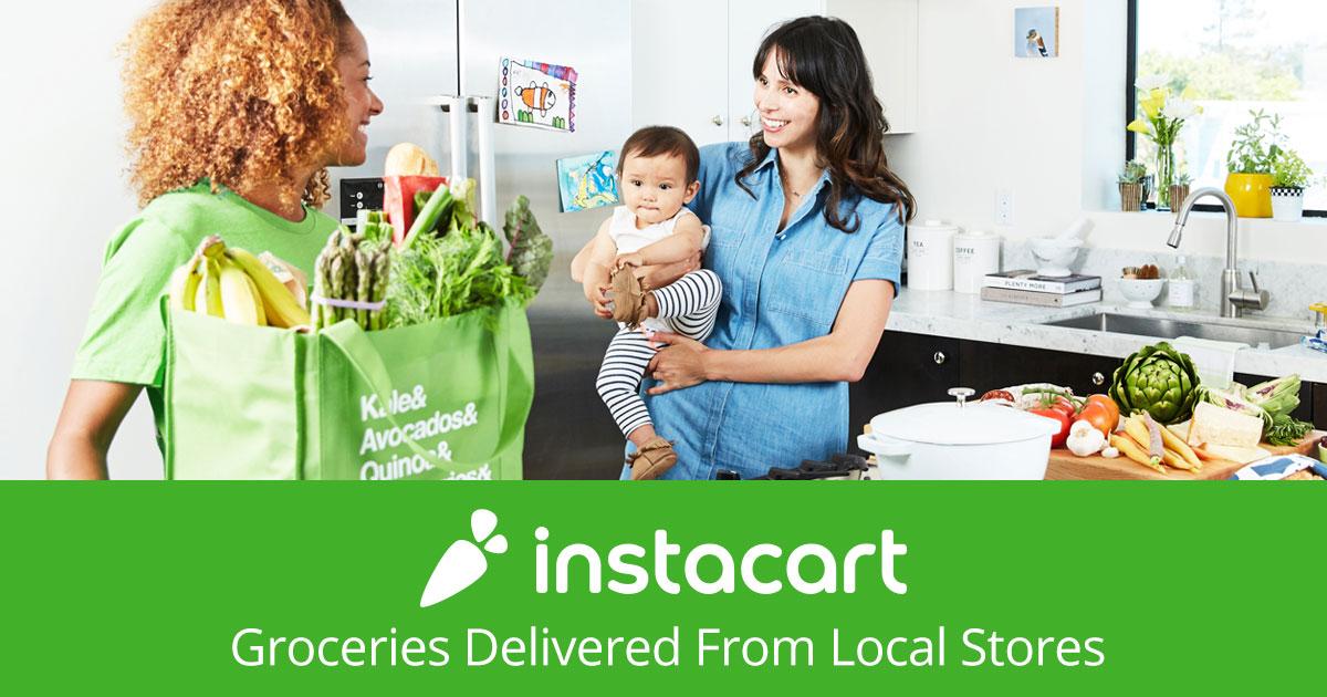 Become an Instacart Shopper! banner backdrop