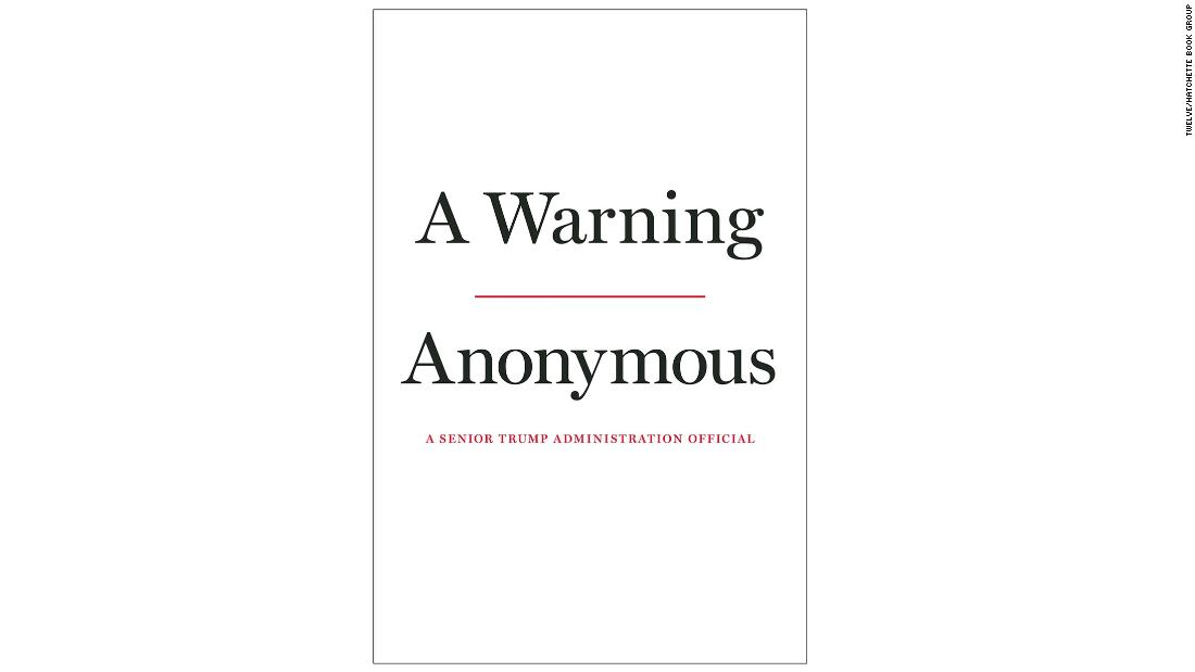 Anonymous Trump official who wrote New York Times op-ed has a book coming out banner backdrop