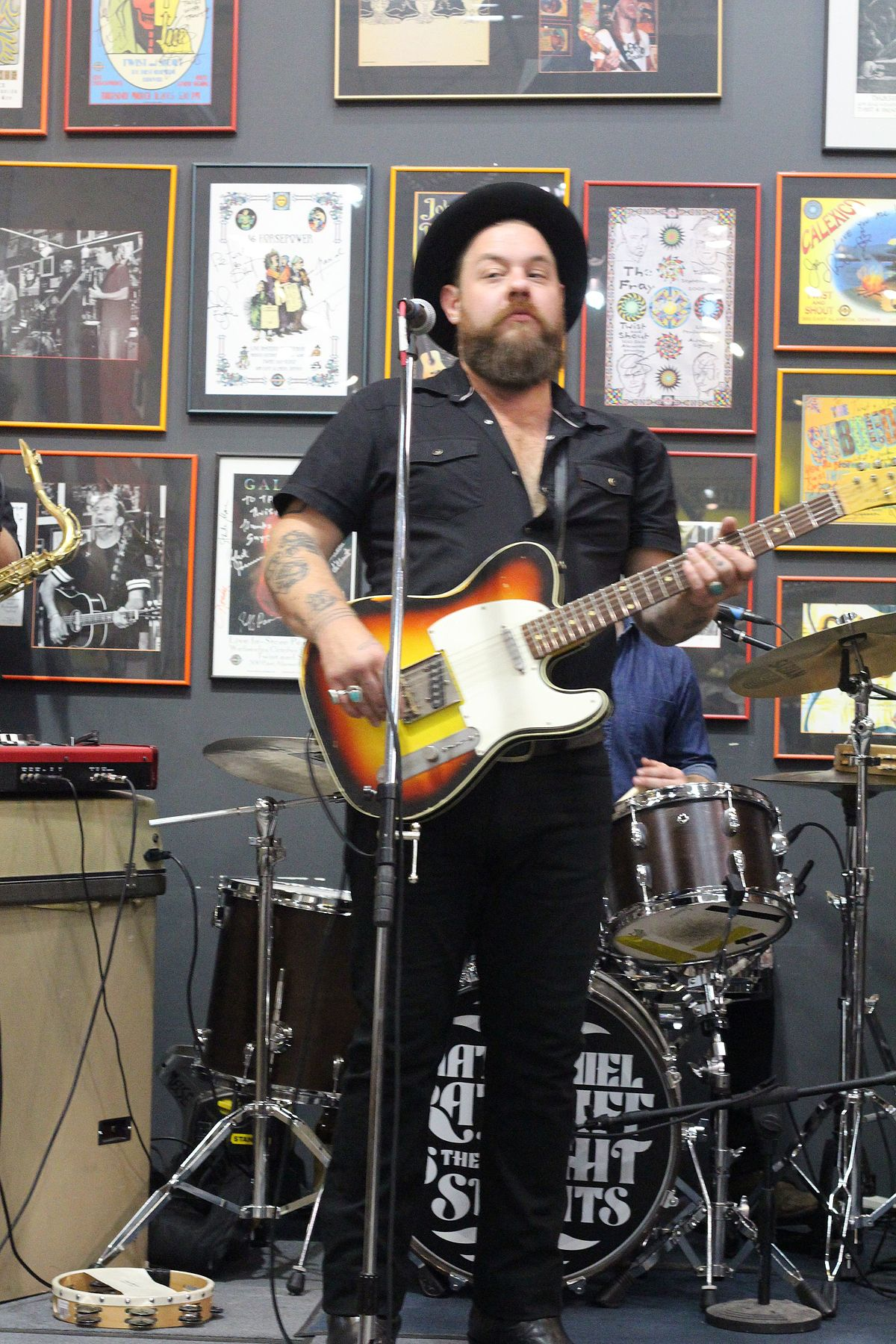 Nathaniel Rateliff banner backdrop